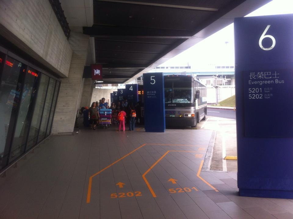 桃園空港(第一ターミナル)からバスで台北まで行く方法♪
