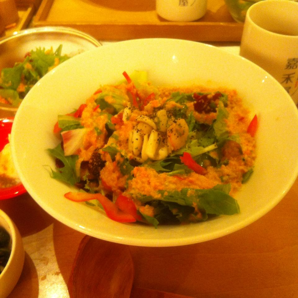 台北で健康うどんを食す。